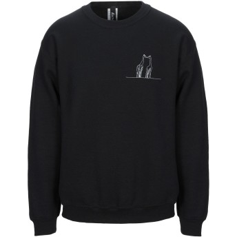 《セール開催中》RECREATE メンズ スウェットシャツ ブラック S コットン 50% / ポリエステル 50%
