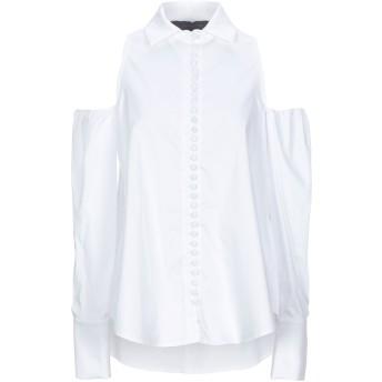 《セール開催中》FEDERICA TOSI レディース シャツ ホワイト 40 コットン 78% / ナイロン 16% / ポリウレタン 6%