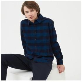 【30%OFF】 エーグル コーデュロイ 先染め 長袖チェックシャツ メンズ ブルー M 【AIGLE】 【セール開催中】