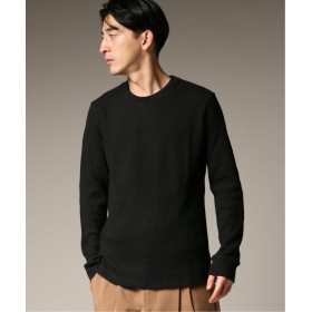 エディフィス オニワッフル ロングスリーブ Tシャツ メンズ ブラック S 【EDIFICE】