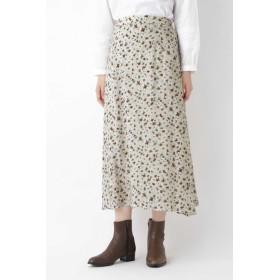 HUMAN WOMAN キュプラシルクローンプリントスカート ひざ丈スカート,エクリュ3