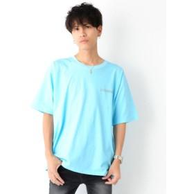 (revenil/ルヴニール)リフレクタープリントビッグ半袖Tシャツ/メンズ ライトブルー
