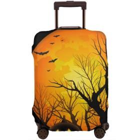 スーツケースカバー トランクカバー ラゲッジカバー ハロウィン かぼちゃ トラベルダストカバー キャリーカバー お荷物カバー ファスナー付き 海外旅行 便利 防塵 防水 おしゃれ 伸縮素材 着脱簡単 S M L XL サイズ