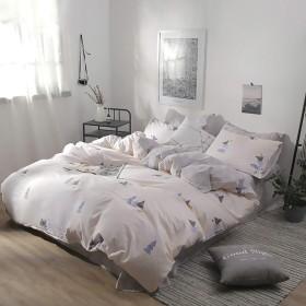 ZXK 新鮮なスイカパインプリントコットンスーパーソフト寝具4ピースキルト枕カバー寝具3ピース ファッション (色 : White, Size : 200230cm)
