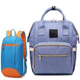多機能バックパック、女子学生バッグ、バックパック付きのカジュアルな母親と赤ちゃんの旅行バッグ (青,27X18X39cm)
