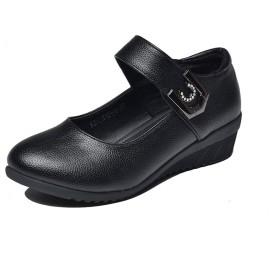 [AcMeer] ぺたんこパンプス ローヒール レディース ベルクロ 室内 ダンスシューズ 婦人靴 履きやすい 痛くない デイリー 普段着用 防滑 旅行用 フラットシューズ 歩きやすい 妊婦靴 ベージュ 黒 赤