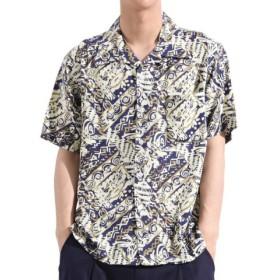 (Valletta/バレッタ)【Valletta】 総柄レーヨンプリント半袖オープンカラーシャツ[171913] ペイズリー柄 花柄 開襟 開襟シャツ シンプル ビッグシャツ ワ/メンズ その他系3