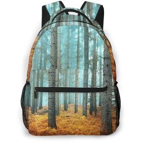 リュック バック 美しい霧の松林, リュックサック ビジネスリュック メンズ レディース カジュアル 男女兼用大容量 通学 旅行 鞄 カバン