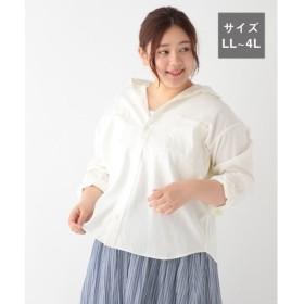 (studio CLIP/スタディオクリップ)コットンリネンピケWポケットシャツ[WEB限定プラスサイズ]/ [.st](ドットエスティ)公式