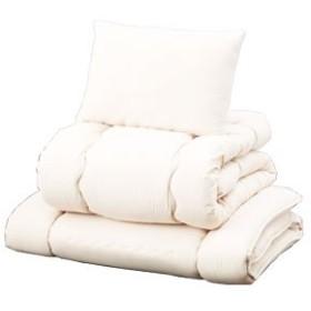 マイティトップわた仕様日本製布団3点セット シングル 掛布団 敷布団 枕 高品質 (アイボリー)