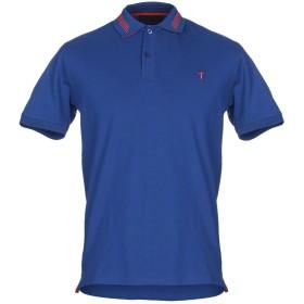 《期間限定セール開催中!》TRU TRUSSARDI メンズ ポロシャツ ブルー S コットン 100%