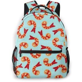 バックパック かわいいエビ PCリュック ビジネスリュック バッグ 防水バックパック 多機能 通学 出張 旅行用デイパック