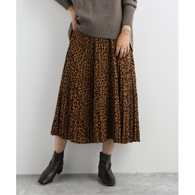 JOURNAL STANDARD レオパードプリントスカート キャメル 38
