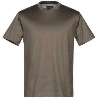 《セール開催中》LES HOMMES メンズ T シャツ ミリタリーグリーン S コットン 100%
