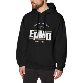XQSMA Adult 男性用 EPMD Comfort パーカー Black Unique Design for Mens トレーナー