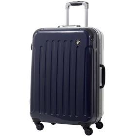 MS型 ダークネイビー / newPC7000 スーツケース キャリーバッグ TSAロック搭載 鏡面加工 (3~5日用)