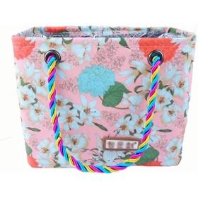 諸葛·チューコー 女性アイリスフラワー入浴バスケットレインコートポータブル入浴バスケット洗浄折りたたみバッグ (Color : Pink)