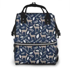 万洋 最新旅行 通勤 個性的 多機能レジャーバッグ リュック マザーズバッグ ベビー用品収納 出産準備 防水盗難防止ポケット シンプル大容量手提げ袋 かわいい -海軍鹿のコラージュ
