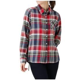 マックハウス Navy コットン フランネルシャツ レギュラーシャツ NG195 WF022 レディース レッド×グリーン M 【MAC HOUSE】