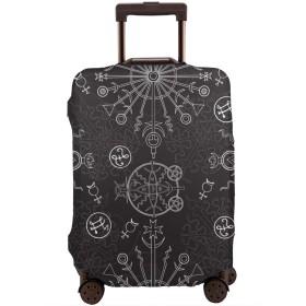 トランクカバー ラゲッジカバー 幾何図 円 伸縮素材 プリント りゅうこう スーツケースカバー 高級感 防塵カバー 取り付けが簡単 傷を防ぐ 携帯便利 旅行 出かける 大容量 高品 人気