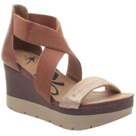 [オーティービーティー] レディース サンダル Half Moon Leather Platform Wedge Sandals [並行輸入品]