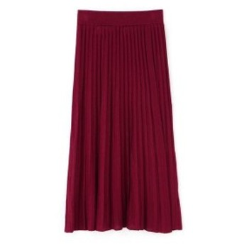 ヒューマンウーマン(HUMAN WOMAN)/《arrive paris》巻きニットプリーツスカート
