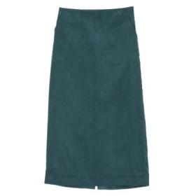 (titivate/ティティベイト)ウエストバックゴムコーデュロイタイトスカート/レディース ブルーグリーン