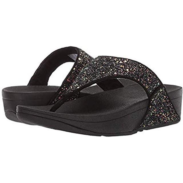 [フィットフロップ] レディースサンダル・靴 Lulu Glitter Black Mix 26cm M (B) [並行輸入品]