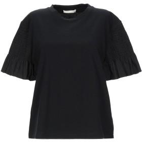《期間限定セール開催中!》MAJE レディース T シャツ ブラック 1 コットン 100%