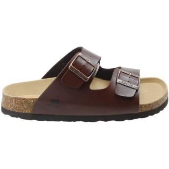 [エドウィン] コンフォート サンダル メンズ EB1001 ベルト 軽量 紳士 靴 ダークブラウン LL(27.0cm)