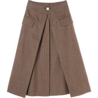 SAYAKADAVIS Tucked Skirt ミモレ丈・ひざ下丈スカート,Houndstooth