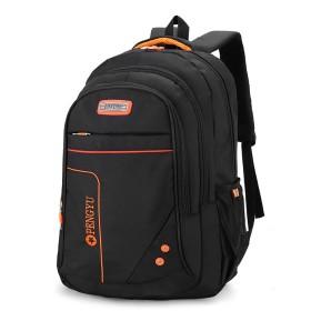 BAACD 17インチラップトップバックパック男性青年男の子女性バックパックブックバッグ旅行女子大学生黒軽量防水ギフトバックパック-orange