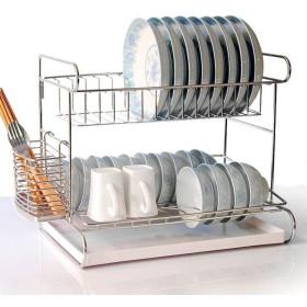 食器棚、食器棚/カトラリーカップの台所棚が付いているステンレス鋼2層の食器棚,b