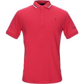《セール開催中》TRU TRUSSARDI メンズ ポロシャツ レッド M コットン 97% / ポリウレタン 3%