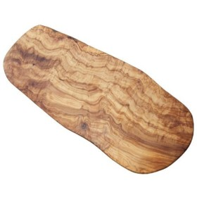 Naturally Med Olive Wood Cutting Board/Cheese Board, 19.5, Large [並行輸入品]