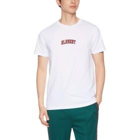 [エレメント] [メンズ] 半袖 プリント Tシャツ (ロゴプリント)[ AJ021-219 / IVY POP SS ] おしゃれ ロゴ WHT_ホワイト US M (日本サイズM相当)