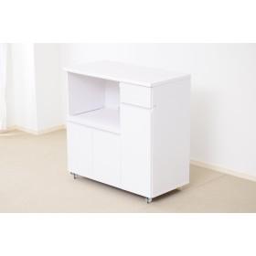 食器棚 NPK-9090RW ナポリキッチンシリーズ レンジワゴン (ホワイト)
