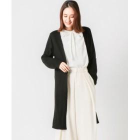 (MEW'S REFINED CLOTHES/ミューズ リファインド クローズ)ウォームカットトッパーカーディガン/レディース クロ