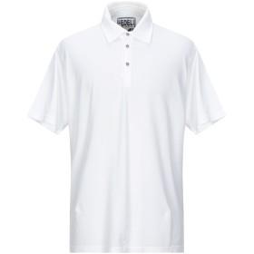 《セール開催中》FEDELI メンズ ポロシャツ ホワイト 58 コットン 100%