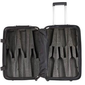 VinGardeValise Grande 05 - ワイントラベルスーツケース - 最新型モデル (シルバー)