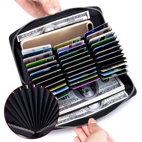 サマーベリー カードケース じゃばら カード入れ スキミングスキミング防止 カードホルダー クレジットカード ポイントカード カード収納 牛本革 磁気防止 36枚収納 メンズ レディース 大容量20113