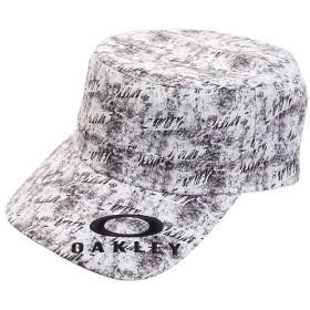 [OAKLEY(オークリー)]帽子 LOGO WORK CAP 13.0 メンズ WHITE PRINT 日本 ONE (FREE サイズ)