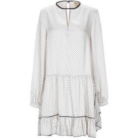 《セール開催中》SEMICOUTURE レディース ミニワンピース&ドレス ホワイト 40 ポリエステル 100%