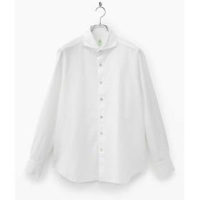 【SALE(伊勢丹)】<フィナモレ/Finamore> 【紳士大きいサイズ】ホワイト織柄シャツ(SERGIO-P9212) ホワイト3(ロープ) 【三越・伊勢丹/公式】