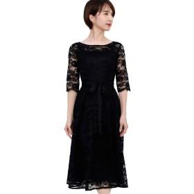 プールヴー ドレス ワンピース パーティードレス 結婚式 二次会 レディース ブラック 4Lサイズ 17号 3030