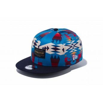 NEW ERA ニューエラ キッズ 9FIFTY PENDLETON ペンドルトン ターコイズ ネイビーバイザー スナップバックキャップ アジャスタブル サイズ調整可能 ベースボールキャップ キャップ 帽子 男の子 女の子 52 - 55.8cm 12108302 NEWERA