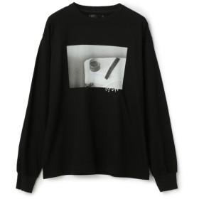 YOSHIKI SUZUKI×ESTNATION / フォトグラフィックロングスリーブTシャツ ブラック/LARGE(エストネーション)◆メンズ Tシャツ/カットソー
