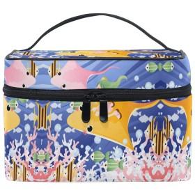 クラゲイカレディ化粧品袋オーガナイザージッパー化粧バッグポーチトイレタリーケースガールレディース