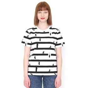 グラニフ(graniph) 【ユニセックス】総柄Tシャツ/ニンジャハウスボーダー【001ホワイト/M】