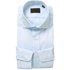 (ユニバーサルランゲージ) ホリゾンタルカラードレスシャツ ヘリンボーン サックスブルー 41